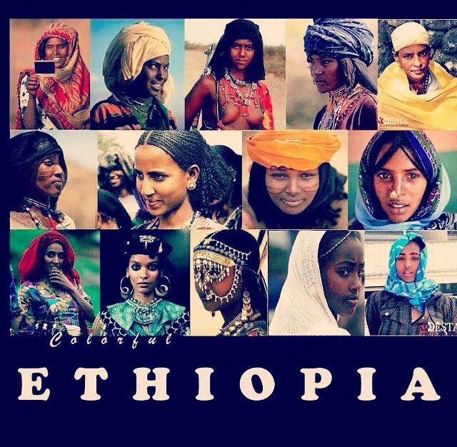 Mujeres diferentes etnias etíopes