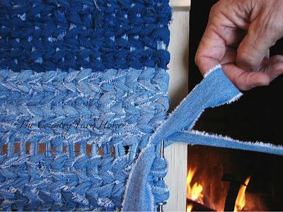 The Country Farm Home: Rag Rug Weaving Tutorial and Tips