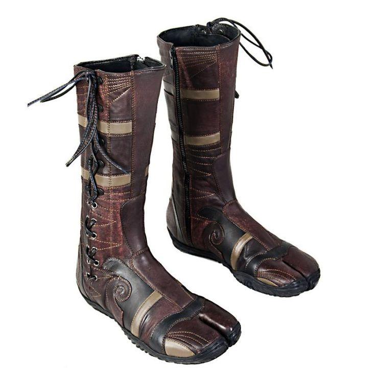 Modern Tabi Boots | Awesome leather jika-tabi in brown ...