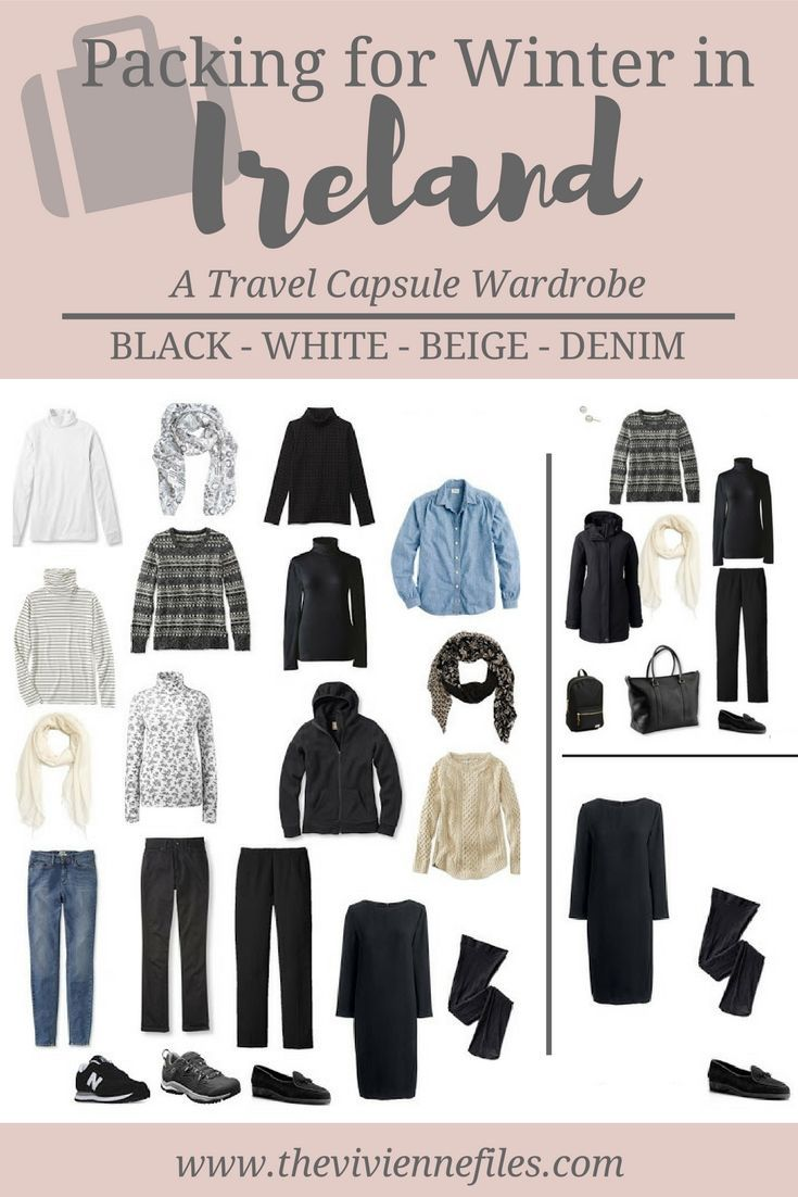 A winter travel capsule wardrobe - What to pack for Ireland in winter
