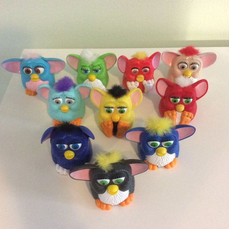 SET OF 10 1998 McDONALD'S FURBY HAPPY MEAL TOYS (Lot #1) #McDonalds