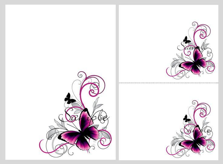 100 Printable Wedding Invitation Kit Purple Butterfly Invitations - best of invitation card vector art