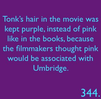 I wish that they had done more with Tonks, and her relationship with Remus as well