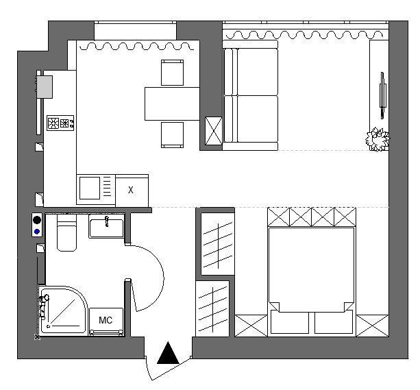 Мои планировки. Однокомнатная квартира 32,75 м.кв. - Моя копилка