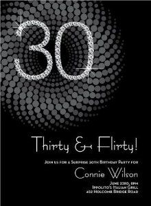 Best COOL INVITES Images On Pinterest Invitations - Black and white 30th birthday party invitations
