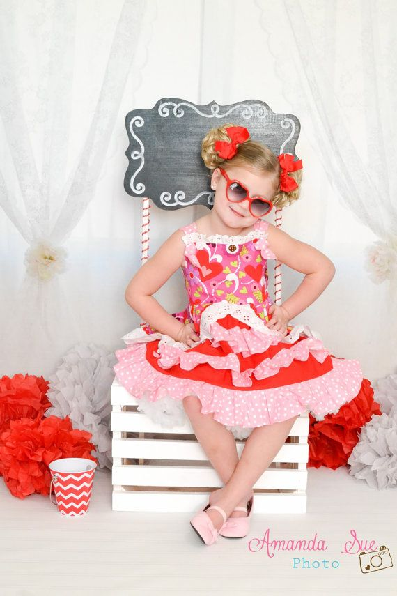 sweet as sugar girls valentines dress by sosohippo on etsy