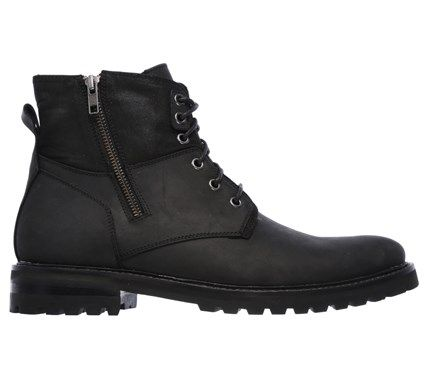 Mark Nason Skechers Men's Briggs Memory Foam Boots (Black Leather) - 12.0 M