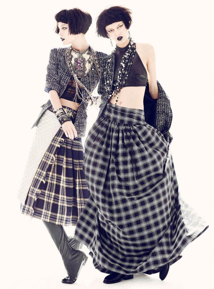 Ella V, Josilyn W, Veranika A & Vika K by Thomas Whiteside in Chanel for Elle US June 2012