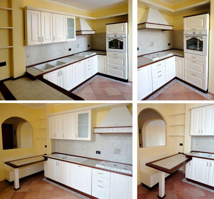 Cucina in vero legno. Realizzata su misura da Falegnamerie Design.it