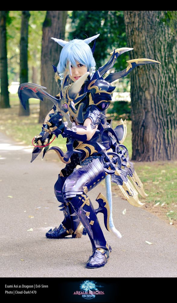 Esumi Aoi as Dragoon from FFXIV Awesome job!!  Link to more pics and (work in progress) pics!! http://animexx.onlinewelten.com/weblog/300001/685024/