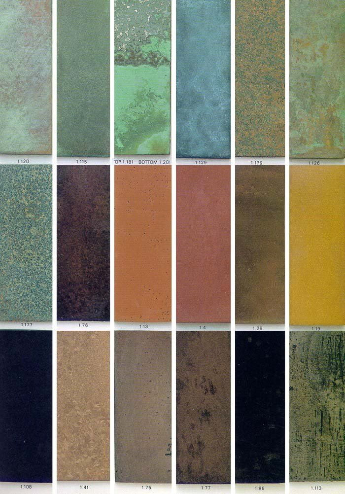 Patina Metal Finishes: Brass, Copper, Steel | X - ARC 107 ...