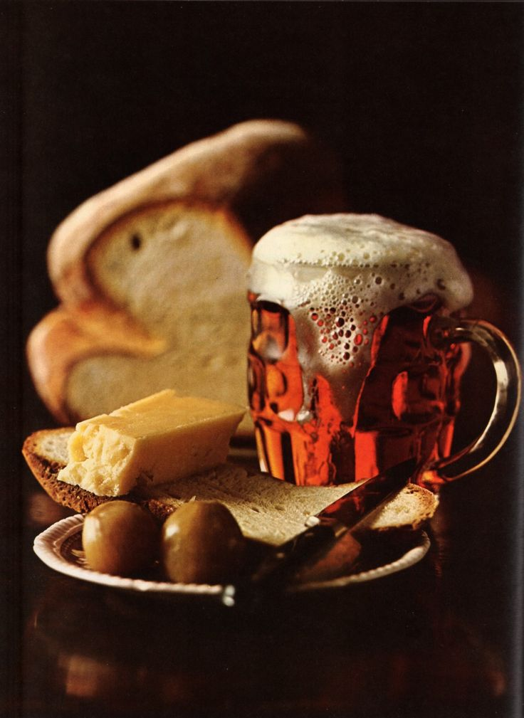 Circa 1969: Order a ploughman's lunch in any village inn or pub in the British Isles and you can expect freshly baked bread, a foaming pint of bitter ale, a generous portion of Cheddar cheese and a couple of pickled onions. Plowing into it will give you plenty of energy until teatime.