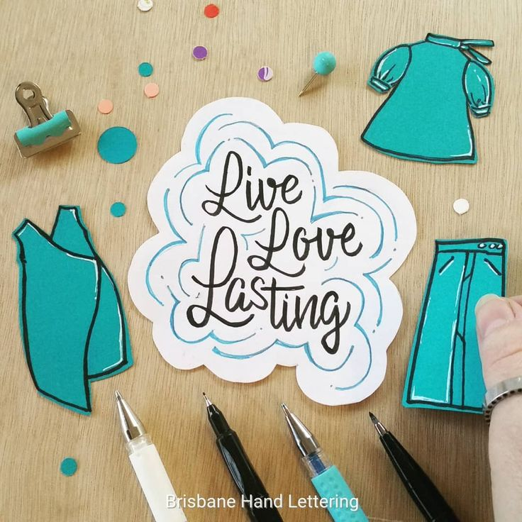 After creating illustrations for Jane Milburn's @textilebeat Slow Clothing book late last year I have been looking at my families clothing impact on the environment.   So (...stay with me here!) 'Live Love - were the first 2 words that were mandatory for this weeks #HOMwork prompt to create your lettering with - along with another L word that relates to you.   The message is simple. While we LIVE on this precious planet we can be mindful to chose ethical clothing we LOVE and strive to make…
