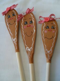 Cottage Creative Living by Egretta Wells: Painted Wooden Spoons                                                                                                                                                                                 More