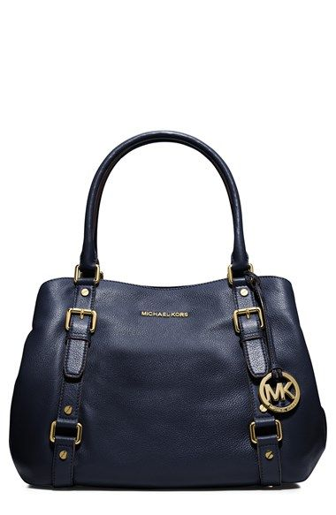 Free shipping and returns on MICHAEL Michael Kors 'Large Bedford' Satchel (Online Only) at Nordstrom.com. Gorgeous pebbled leather highlights the clean lines of a lightly structured satchel punctuated with polished signature hardware.