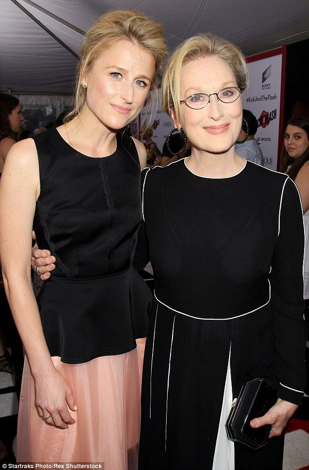 Good genes: Meryl Streep and daughter Mamie Gummer attended the premiere of their movie Ricki And The Flash in New York on Monday