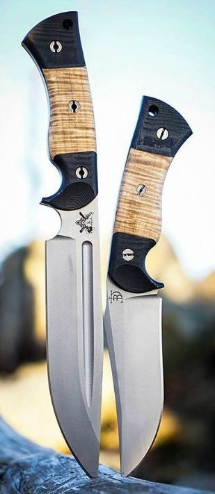 Dark Timber Custom Knives custom made knives and handmade knives - Mid Tech Honey Badger and 1911 Elite  @aegisgears https://www.darktimberknives.com/