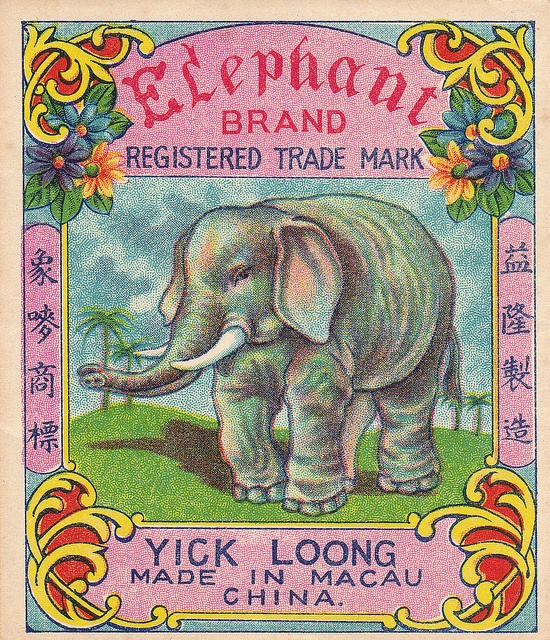 Elephant Firecracker Pack Label by Mr Brick Label