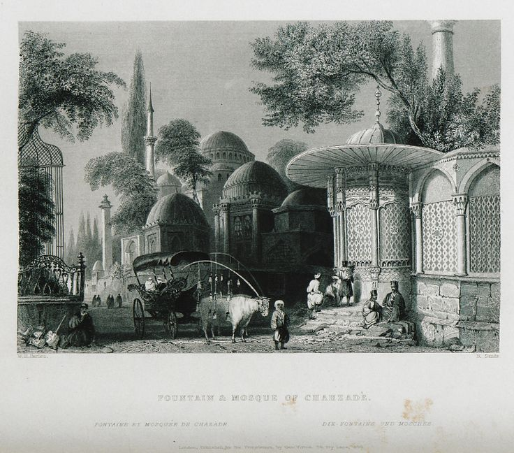 Şehzade Mosque-(The Beauties of the Bosphorus; by Miss Pardoe, from drawings by W. H. Bartlett.)'1874