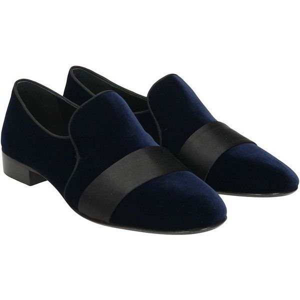 Loafers in Blue Velvet ($595) ❤ liked on Polyvore featuring men's fashion, men's shoes, men's loafers, blue, leather sole mens shoes, mens blue loafers shoes, giuseppe zanotti mens shoes, mens loafer shoes and mens velvet shoes
