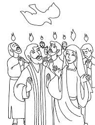 coloring pages for pentecost - photo#16