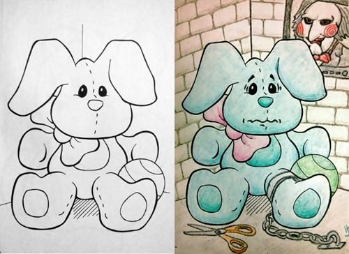 25 Hilarious Coloring Book Corruptions Childrens