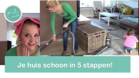 Cleaning routine Huishoudelijk : Mijn schoonmaak routine in 5 stappen : Mama style! Hoe je huis snel schoonmaken? Mijn tips en routine in combinatie met een vrolijke dreumes haha!