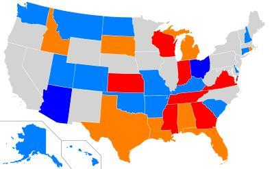 No voter ID required in California, Illinois, Iowa, Maine, Maryland, Massachusetts, Minnesota, Nebraska, Nevada, New Jersey, New Mexico, New York, North Carolina, Oregon, Pennsylvania, Vermont, West Virginia, Wyoming, and Washington, D.C. - Voter ID laws in the United States - Wikipedia