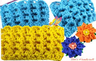 Tina's handicraft : crochet stitch No 28 - video tutorial & pattern