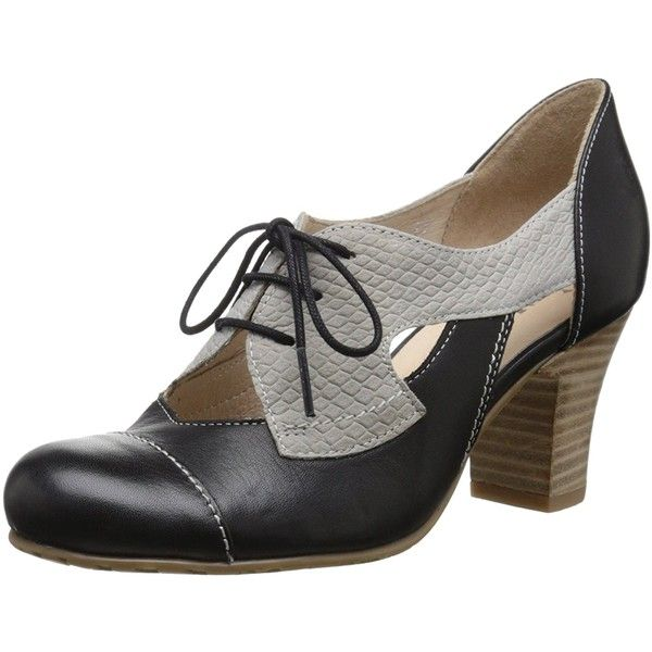 Fidji Women's V557 Oxford ($189) ❤ liked on Polyvore featuring shoes, oxfords, fidji shoes, oxford shoes, fidji and wide shoes