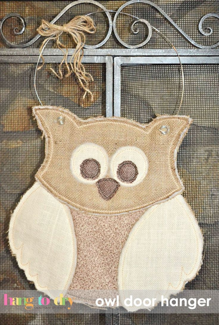 Hang to Dry Applique - Owl Door Hanger, $5.99 (http://www.hangtodryapplique.com/owl-door-hanger/)