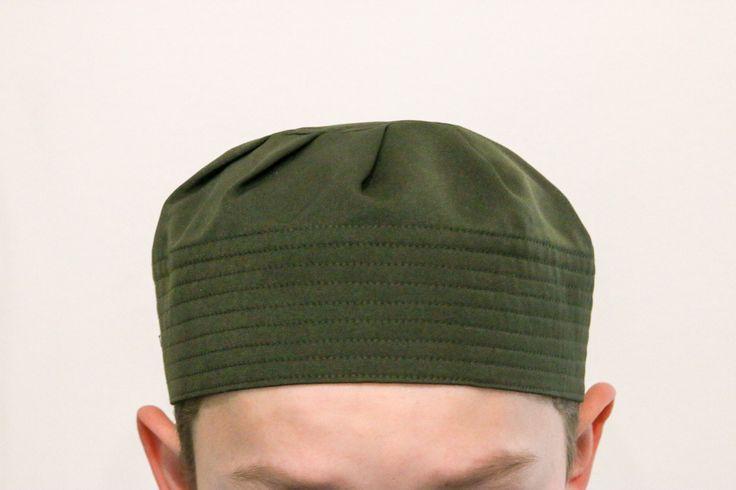 Kids Pleated Hat - Green