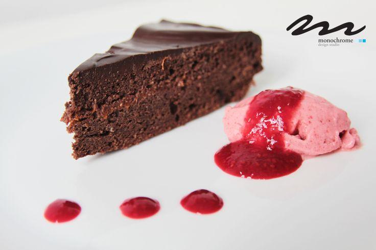 Bécsi csoki torta - cukor és liszt nélkül