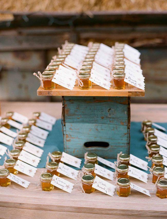 Mariage: DIY escort card / cadeau d'invité miel