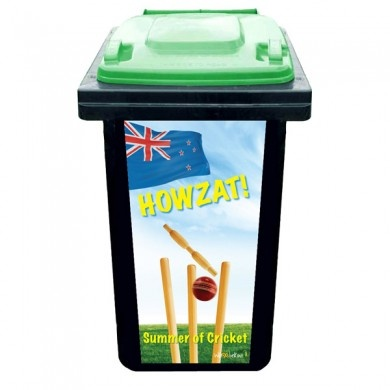 Turn your wheelie rubbish bin into an instant cricket wicket for backyard games :)