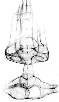 Рис. 22. а. Линейно-конструктивное построение формы губ в различных положениях - Е. А. Маковкин рисунок деталей головы методические указания