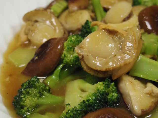 帆立とブロッコリーの中華風餡かけ炒めの画像