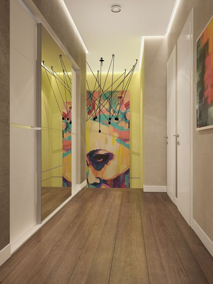 http://boomzer.com/sophisticated-family-home-characteristic-bright-sweltering-colors/pop-art-stairway-large-mirror-wooden-floor-ceiling-lamp-shade-pavel-voytov-open-and-airy-living-room/