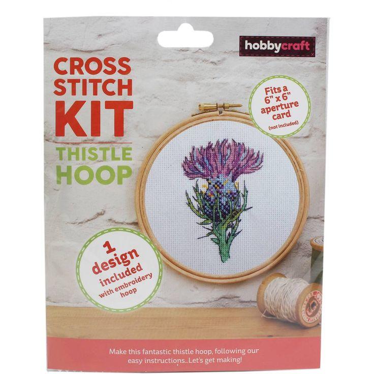 Thistle Cross Stitch Hoop Kit | Hobbycraft