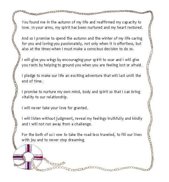 Wedding Vows For An Older Couple