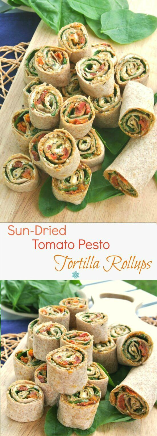 Sun-Dried Tomato Pesto Tortilla Rollups has layers of flavor and texture that…