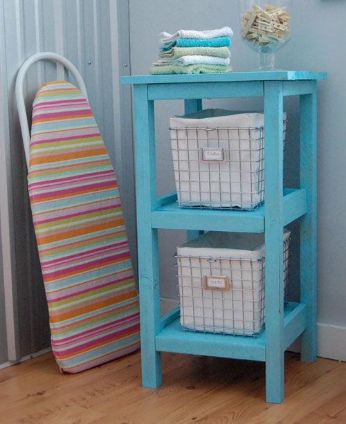 Build A Wire Basket Bath Storage Tower Free And Easy Diy Project Furniture Plans