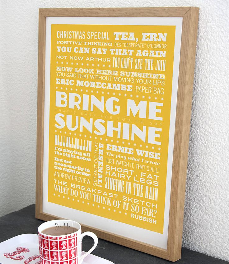 'Bring Me Sunshine' Morecambe And Wise Print