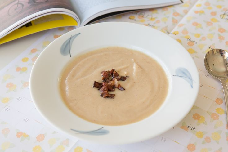 Four Ingredients Roasted Cauliflower Soup