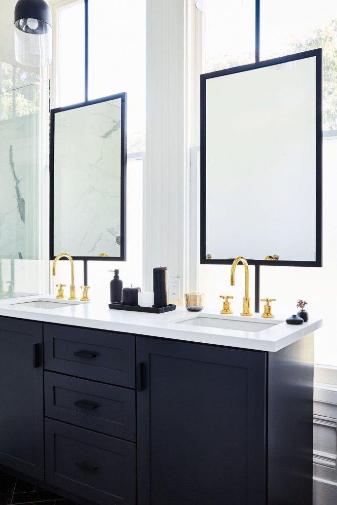 5 Bathroom Mirror Ideas For A Double Vanity L Shaped Bathroom