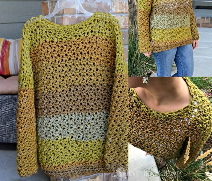 Ahhh, Fall... how I have missed you. Pumpkins, fire pits and crisp, morning air. This new Four-Hour Fall Sweater crochet pattern is perfect for you!