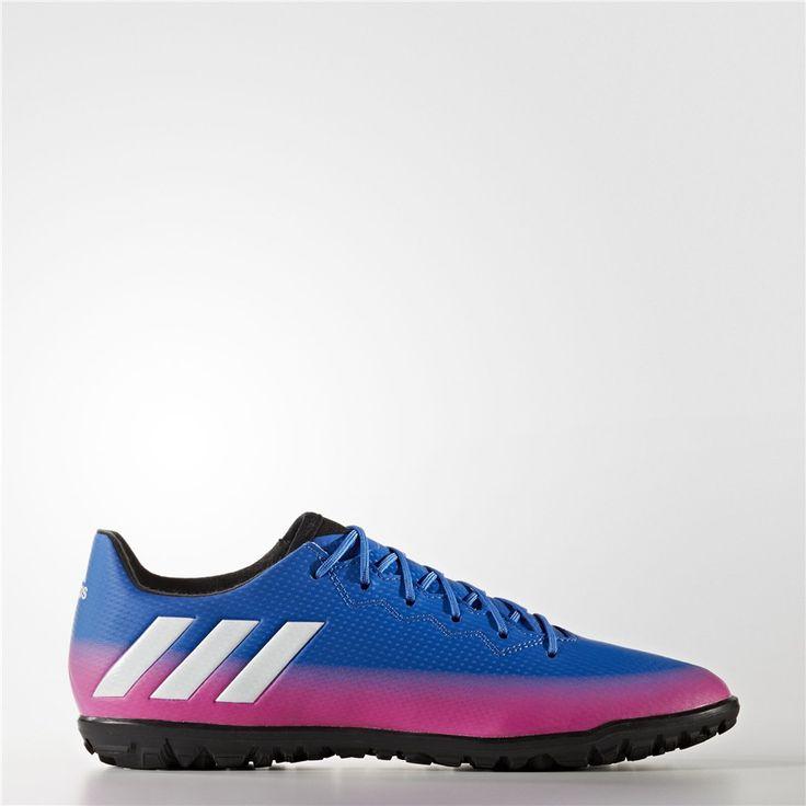 Adidas Messi 16.3 Turf Shoes (Blue / Running White Ftw / Solar Orange)