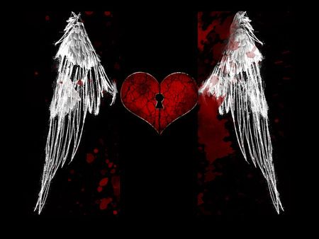 gothic | Wings wallpaper, Love wallpaper, Heart with wings