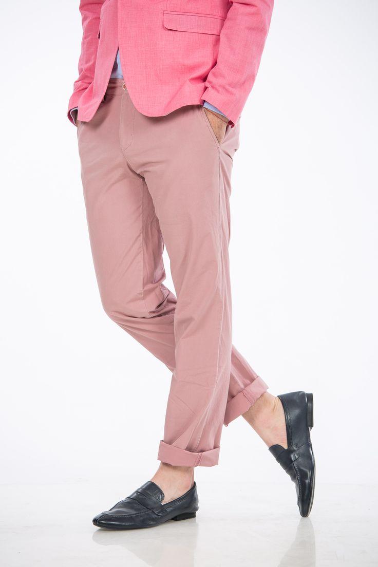 Pantaloni lila bumbac casual