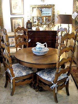 antique oak dining table w 4 country french chairs ebay boy do i wish